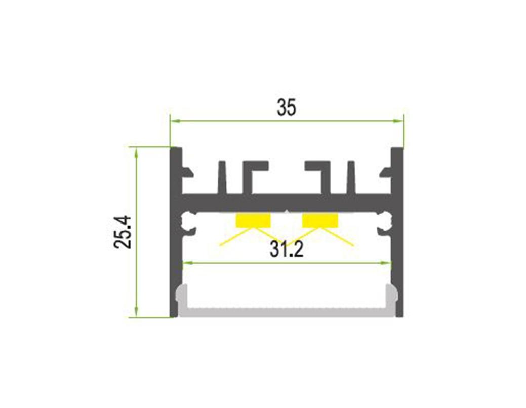 LEDSign Diverse design profiel Model 69f