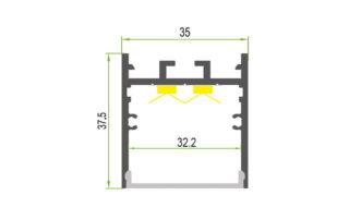 LEDSign Diverse design profiel Model 70f