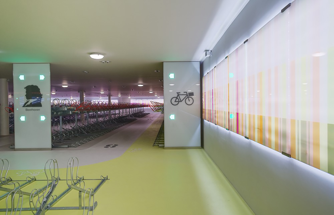LEDSign project: Fietsenstalling Mahlerplein
