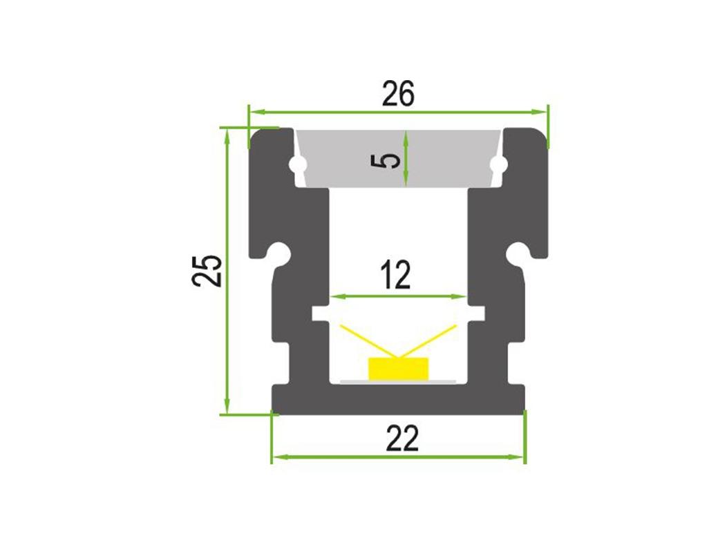 LEDSign IP68 grondinbouw profielen Model 35