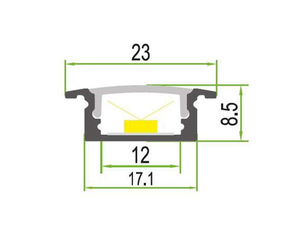 LEDSign Inbouw profielen Model 07