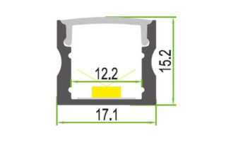 LEDSign Opbouw profielen Model 10