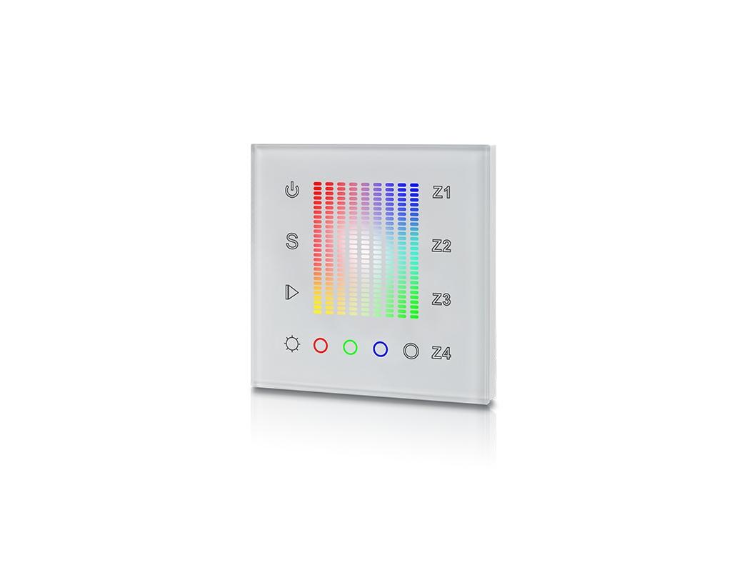 LEDSign RGBW 4 zone wandinbouwbediening 3x scene
