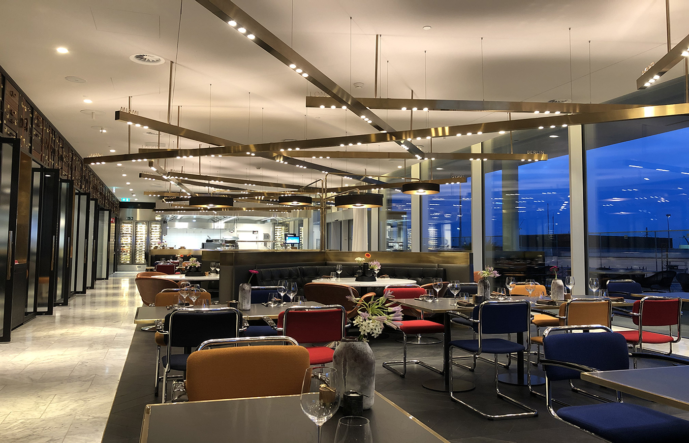 KLM Crown Lounge Restaurant Blue