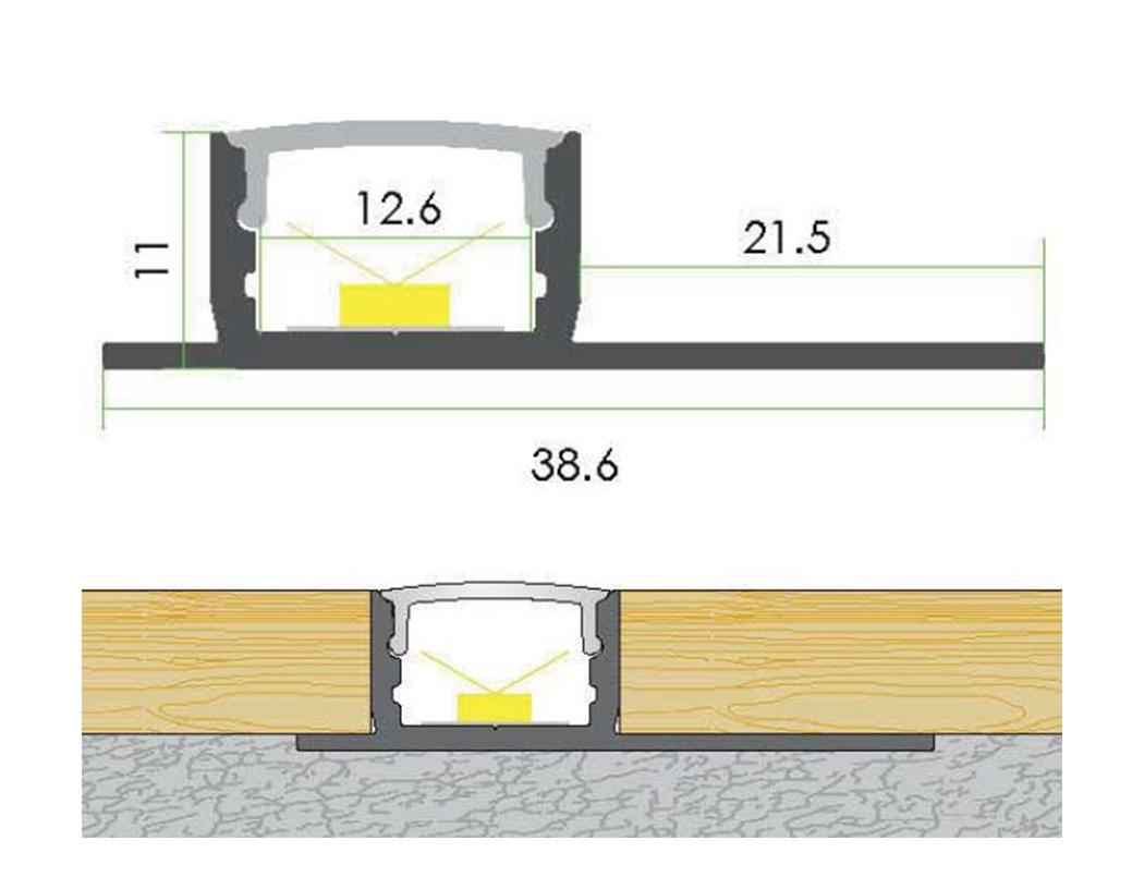 LEDSign Trimless tegel en stuc profielen Model 80