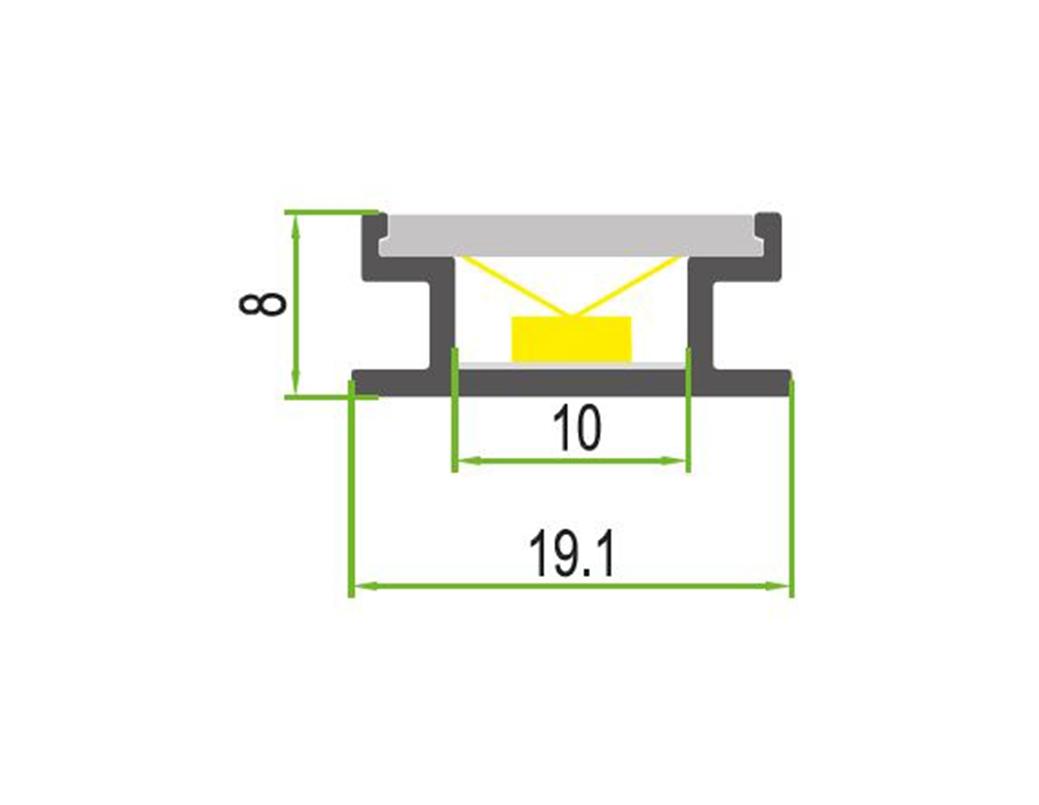 LEDSign Vloer en traptrede profielen Model 6